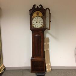 Scottish Carved Mahogany Tall Case Clock