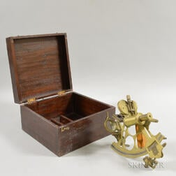 Cased Brass Sextant.     Estimate $20-200