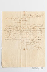 Lee, Robert E. (1807-1870) Letter Signed, 18 March 1863.