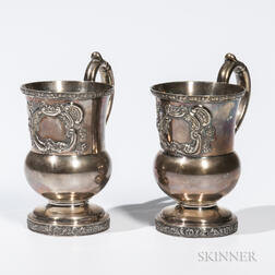 Two Ball, Tompkins & Black Coin Silver Cups
