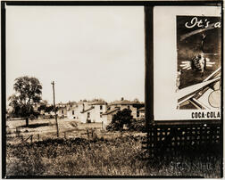 Walker Evans (American, 1903-1975)       Houses with Coca-Cola Sign in Foreground, Possibly West Virginia