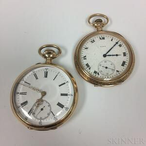 Two 14kt Gold Pocket Watches