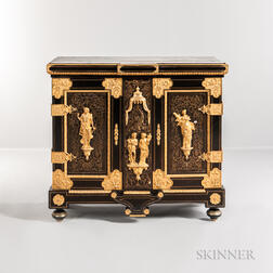 Louis XIV-style Ormolu-mounted Boullework Lacquered Cabinet