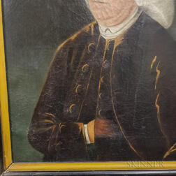 American School, 18th Century       Portrait of a Gentleman in a Powdered Wig