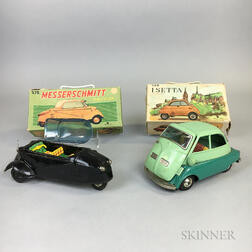 Boxed Isetta and Messerschmitt Toy Friction Cars.     Estimate $200-300