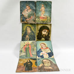 Twenty-one Painted Tin Retablos.     Estimate $1,000-1,500