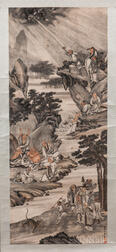 Hanging Scroll Depicting the Eighteen Arhats