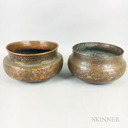 Two Tinned-copper Bowls