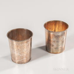 Two Continental Silver Beakers
