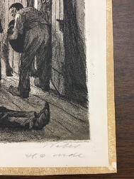 Käthe Kollwitz (German, 1867-1945)      Two Plates from Ein Weberaufstand