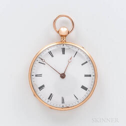 18kt Gold Quarter-hour Repeating Open-face Watch