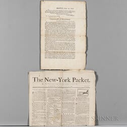 American Newspapers and Broadside: 1789-1835.