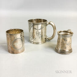 Three Silver Christening Cups