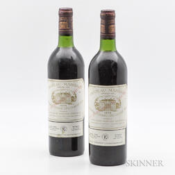 Chateau Margaux 1975, 2 bottles