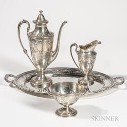 Four-piece Black, Starr, & Frost Sterling Silver Coffee Service