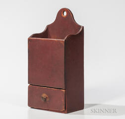 Red-painted Candle Box with Drawer