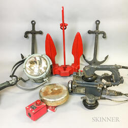 Group of Nautical Instruments and Anchors
