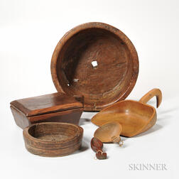 Six Wooden Culinary and Cheesemaking Tools