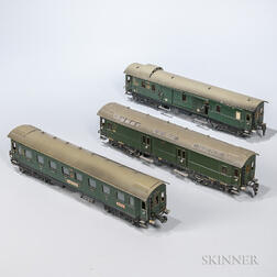 Three Marklin O Gauge Cars