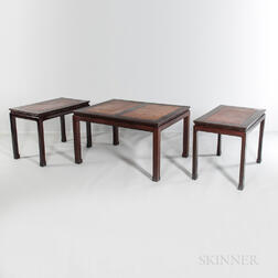Three-part Hardwood Dining Group