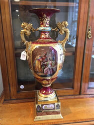 Royal Vienna Porcelain Handpainted Vase