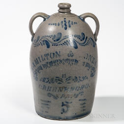 Five-gallon Cobalt-decorated Jug