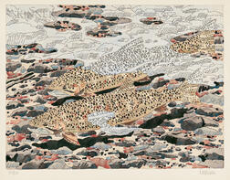 Neil Welliver (American, 1929-2005)      Trout and Reflections