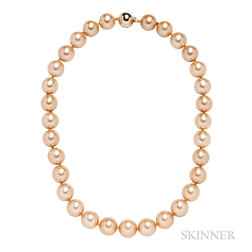 Golden South Sea Pearl Necklace