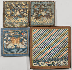 Four Kesi Textile Items