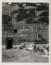 Walker Evans (American, 1903-1975)  Abandoned Lot in Front of Church of God in Christ Building, Chicago [detail], Made for the Fortun