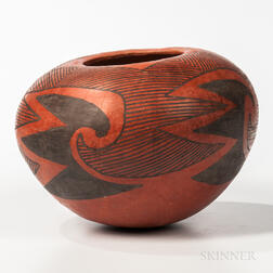 Mogollon Polychrome Pottery Vessel