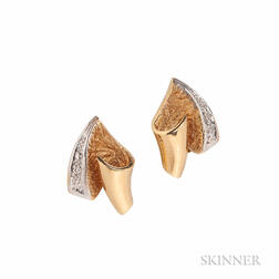 18kt Gold and Diamond Earrings, H. Stern
