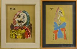 After Pablo Picasso (Spanish, 1881-1973)      Two Reprints of Plates from Portraits Imaginaire