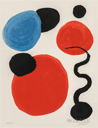 Alexander Calder (American, 1898-1976)      Untitled (Disks and Pollywog)