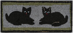Black Cats Hooked Rug