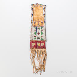 Plains Beaded Hide Tobacco Bag