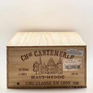 Chateau Cantemerle 2015, 12 bottles (owc)