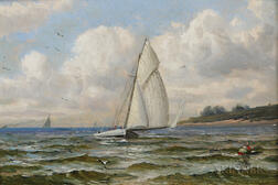 Attributed to William Haskell Coffin (American, 1878-1941)      Sailboats at Sea