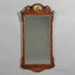 Walnut and Gilt-gesso Mirror