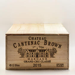 Chateau Cantenac Brown 2015, 12 bottles (owc)