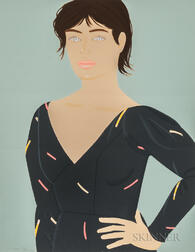 Alex Katz (American, b. 1927)      Gray Dress (Laura)