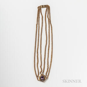 14kt Gold and Amethyst Necklace