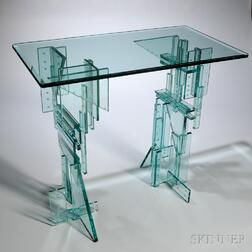 Fay Miller Art Glass Skyscraper Table
