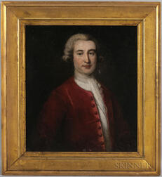 British School, 18th/19th Century      Portrait of a Gentleman in a Red Coat