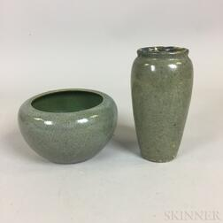 Revere Pottery Vase and a S.E.G. Bowl