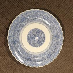 Large Blue and White Imari Porcelain Charger