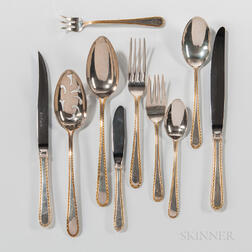 "Kirk ""Golden Winslow"" Pattern Sterling Silver Flatware Service"