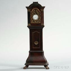 Burl Walnut Veneered Bombe Base Watch Hutch