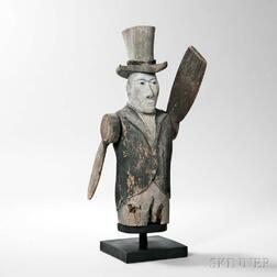Carved and Painted Whirligig Figure