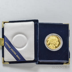 *2007-W $50 Proof American Gold Buffalo.     Estimate $1,000-1,500